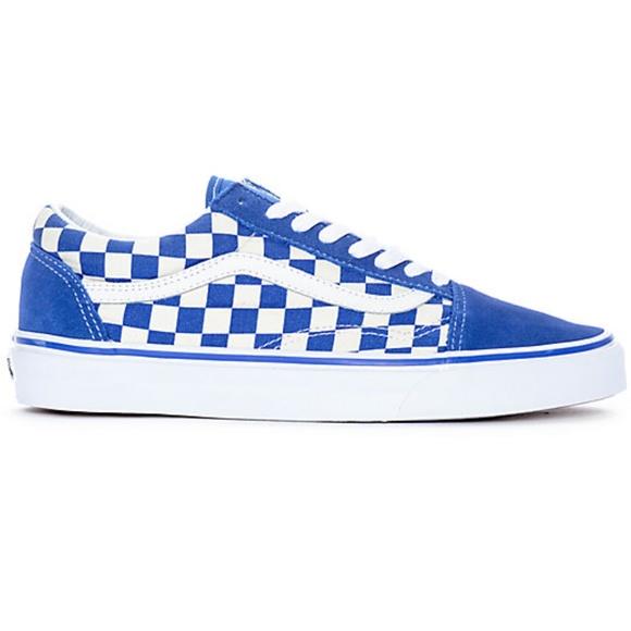 New Vans Old Skool Blue White Checkered